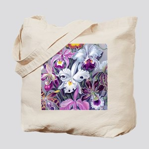 19th C Vintage Orchid Painting Tote Bag