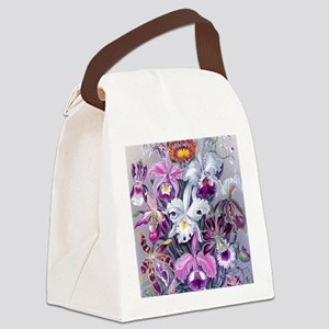 4 PILLOW 16IN-Hkl BQORCHIDS Canvas Lunch Bag