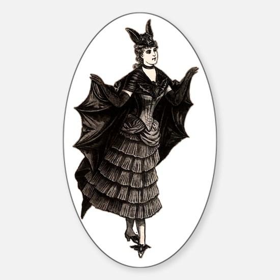 Victorian Bat, Shirt Sticker (Oval)