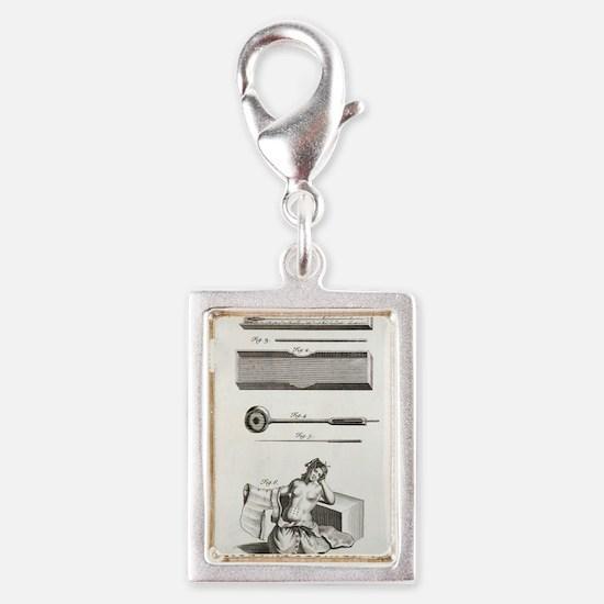 Japanese acupuncture Silver Portrait Charm