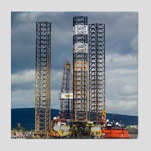 Jackup oil drilling rig, North Sea Tile Coaster