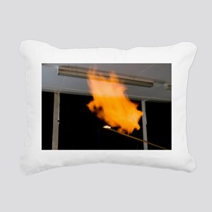 Investigating combustion Rectangular Canvas Pillow