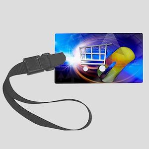 Internet shopping, conceptual ar Large Luggage Tag