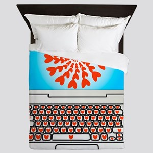Internet dating, conceptual image Queen Duvet