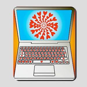 Internet dating, conceptual image Mousepad