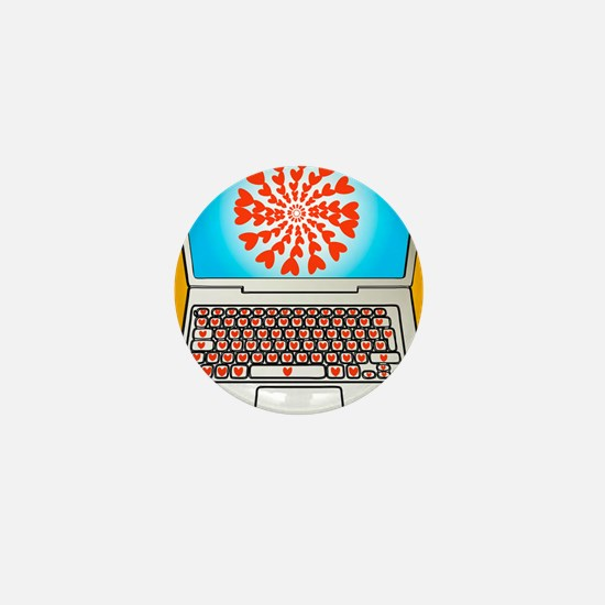 Internet dating, conceptual image Mini Button