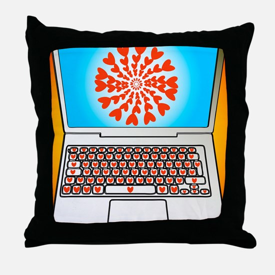 Internet dating, conceptual image Throw Pillow
