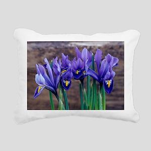 Iris 'Joyce' flowers Rectangular Canvas Pillow