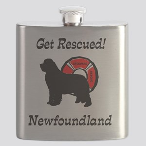 Newfie Get Rescued Flask