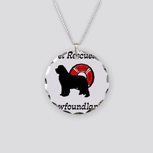 Newfie Get Rescued Necklace Circle Charm