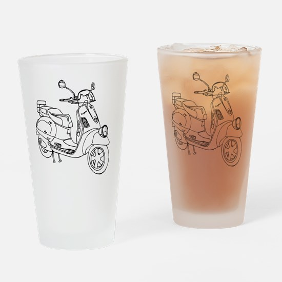 Scooter Drinking Glass