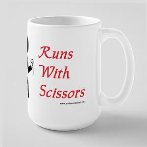 Runs With Scissors Large Mug