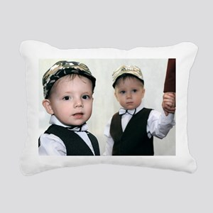 Identical twin boys Rectangular Canvas Pillow