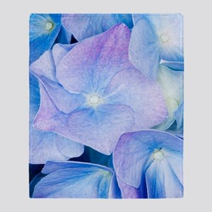 Hydrangea (Hydrangea macrophylla) Throw Blanket