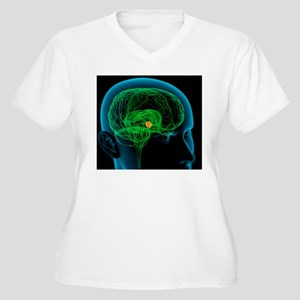 Hypothalamus in t Women's Plus Size V-Neck T-Shirt