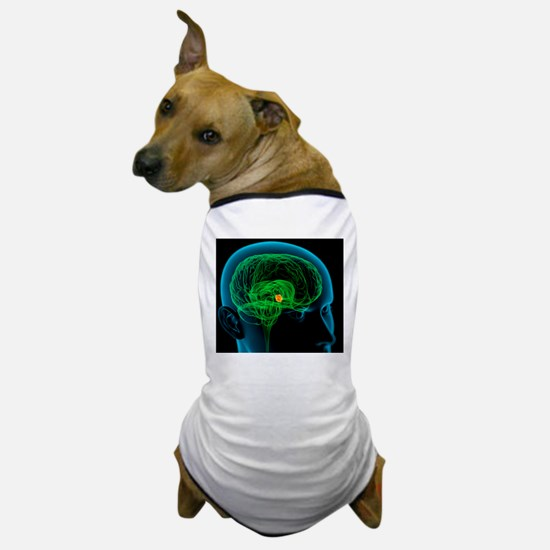 Hypothalamus in the brain, artwork Dog T-Shirt