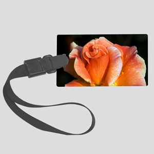 Hybrid tea rose (Rosa 'Can-Can') Large Luggage Tag