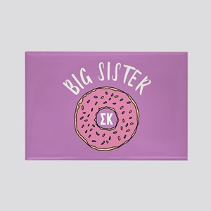 Sigma Kappa Big Sister Donut Rectangle Magnet