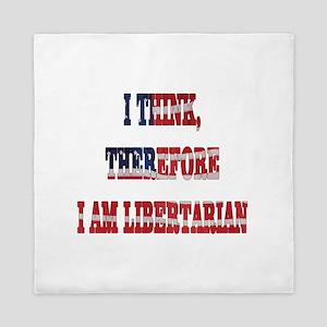 Think Libertarian Queen Duvet