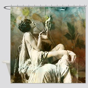 Vintage Pearls Shower Curtain