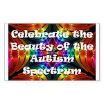 Celebrate the Autism Spectrum Sticker(Rectangular)