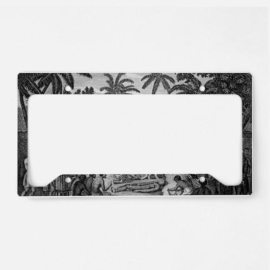 Human sacrifice in Tahiti, ar License Plate Holder