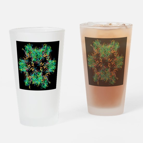 HPV-like particle, ribbon model Drinking Glass
