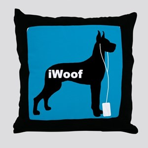 iWoof Great Dane Throw Pillow