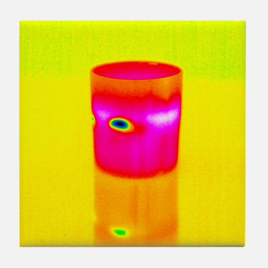 Hot drink, thermogram Tile Coaster