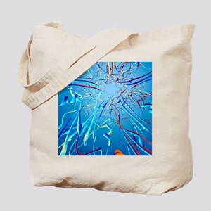 HPV L1 surface protein, ribbon model Tote Bag