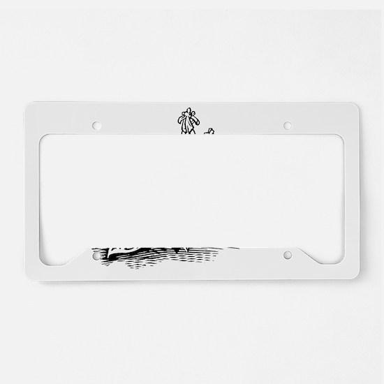 Hosta, lino print License Plate Holder