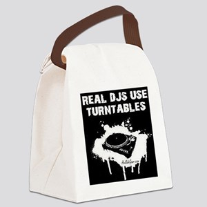 REAL DJS TEE Canvas Lunch Bag