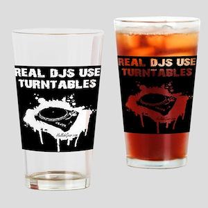 REAL DJS TEE Drinking Glass