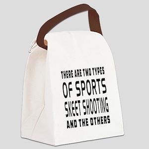 Skeet Shooting Designs Canvas Lunch Bag