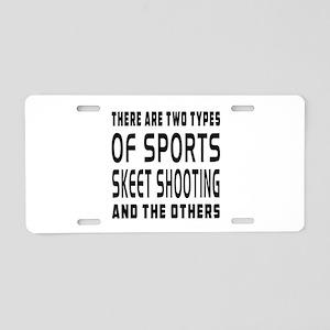 Skeet Shooting Designs Aluminum License Plate