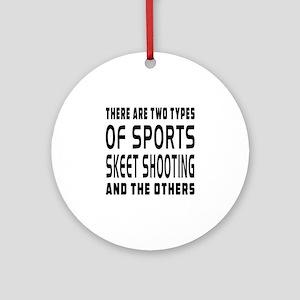 Skeet Shooting Designs Ornament (Round)
