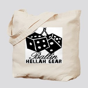 HELLAH GEAR BALLIN TEE WHITE Tote Bag