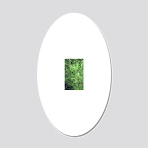 Horsetail (Equisetum sp.) 20x12 Oval Wall Decal