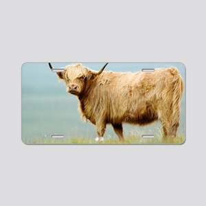 Highland cow Aluminum License Plate