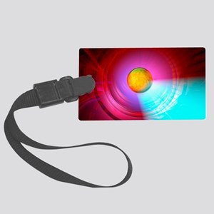 Higgs Boson particle, artwork Large Luggage Tag