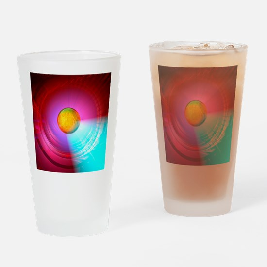 Higgs Boson particle, artwork Drinking Glass