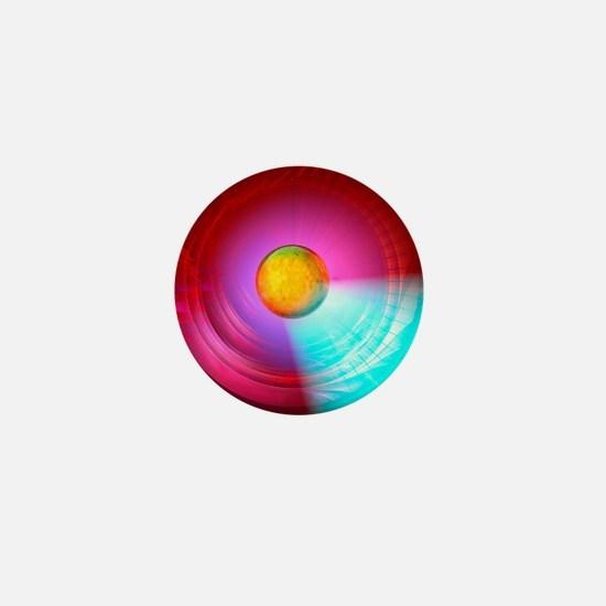 Higgs Boson particle, artwork Mini Button