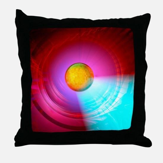 Higgs Boson particle, artwork Throw Pillow