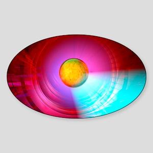 Higgs Boson particle, artwork Sticker (Oval)