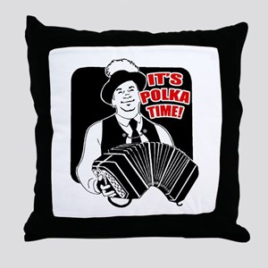 It's Polka Time Throw Pillow