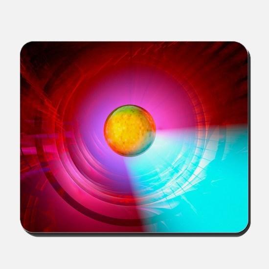 Higgs Boson particle, artwork Mousepad