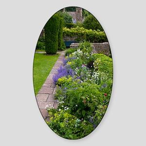 Herbaceous garden border Sticker (Oval)