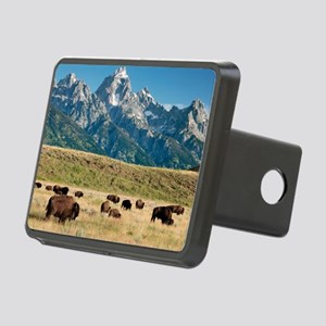 Herd of American Bison Rectangular Hitch Cover