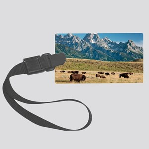 Herd of American Bison Large Luggage Tag