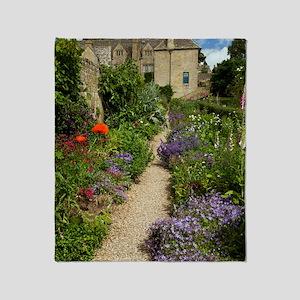 Herbaceous garden plants, UK Throw Blanket